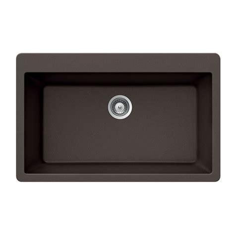 kitchen sinks drop in shop houzer 21 in x 33 in mocha 1 granite drop in