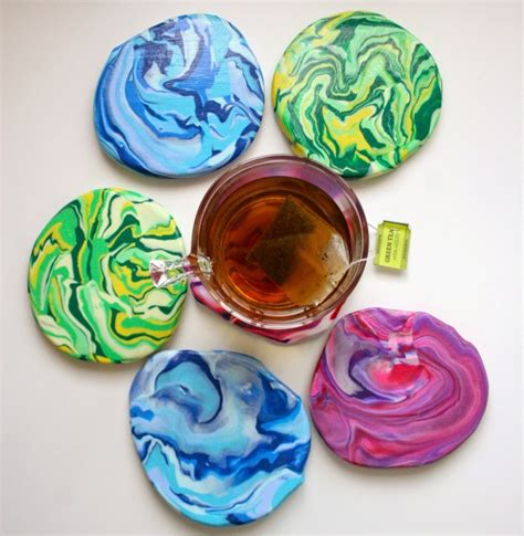 marble crafts for picture of marble clay coasters