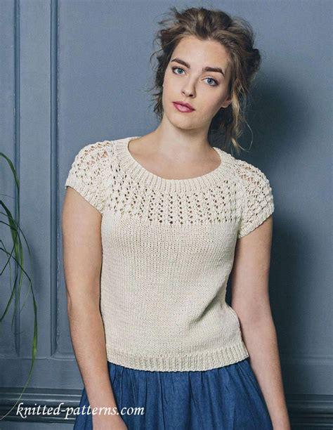 summer knitting patterns summer top free knitting pattern