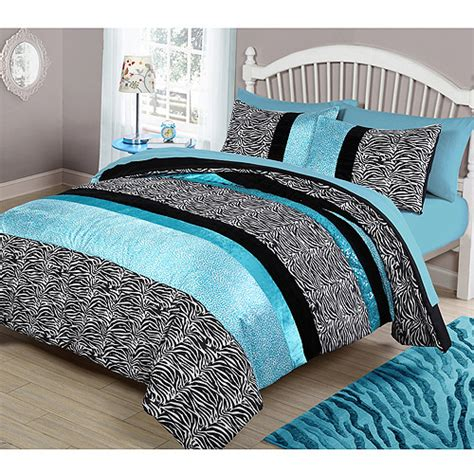 teal comforters sets your zone teal animal bedding comforter set walmart