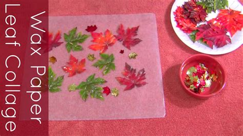 wax paper crafts for wax paper leaf collage craft for preschool and