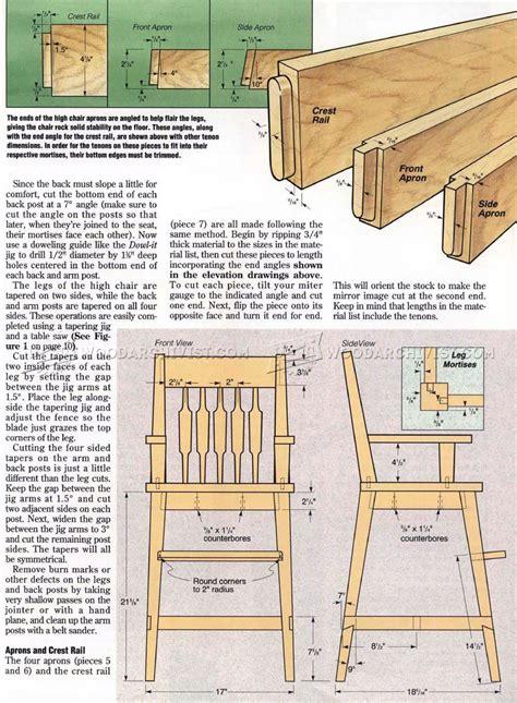 high chair woodworking plans high chair plans woodarchivist