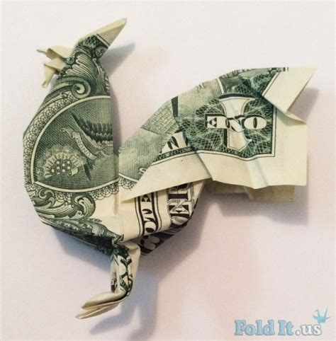 origami one dollar bill origami rooster