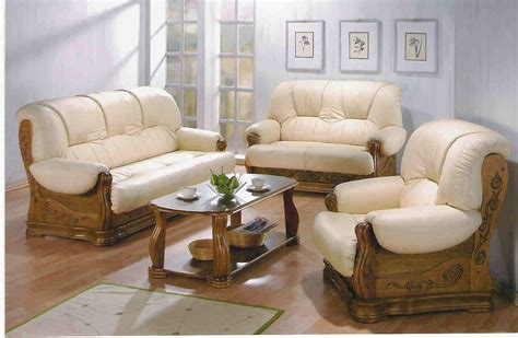 wood and leather sofas wood leather sofa set mw furniture source malaysia