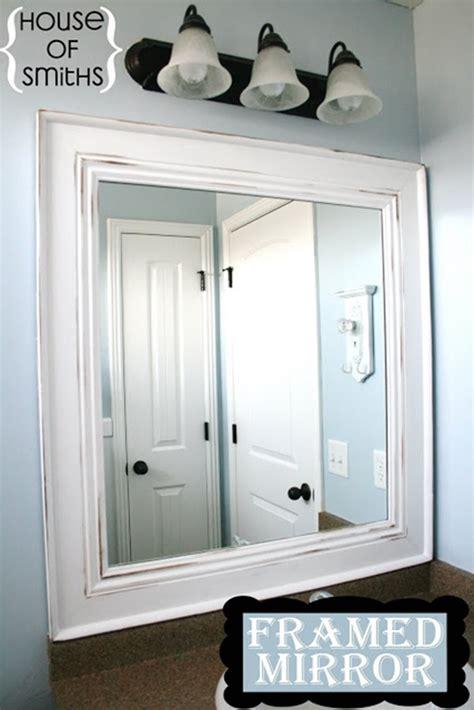 how to frame bathroom mirrors 10 diy ideas for how to frame that basic bathroom mirror
