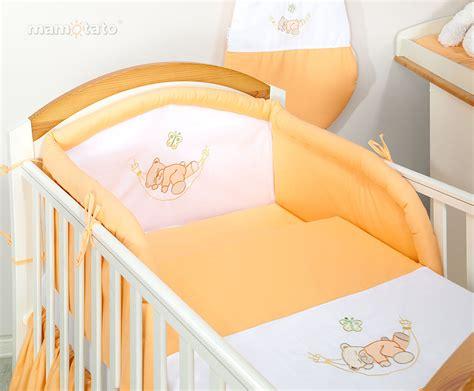 parure de lit b 233 b 233 brod 233 e orange 14ps linge de lit pour b 233 b 233 140 70cm 120 60cm ebay