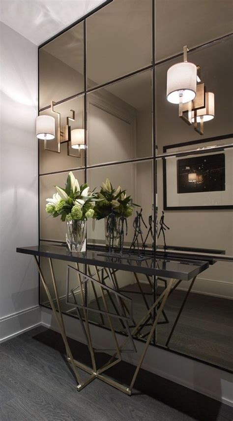 interior wall ideas and creative ideas of wall mirrors in the hallway
