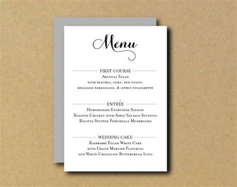 make your own menu cards printable custom diy menu card chic