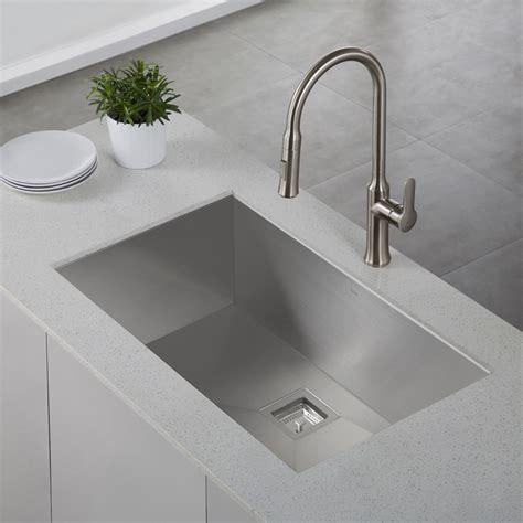kitchen undermount sink kraus khu32 pax stainless steel undermount single bowl