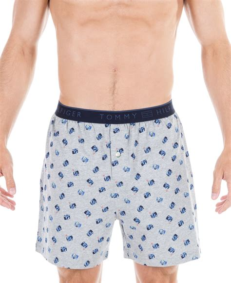 knit boxers hilfiger s car print knit boxers in gray for