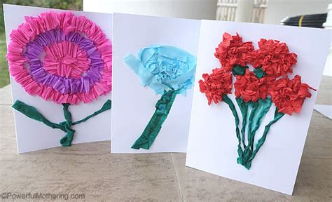 how to make card flowers crepe paper flower cards