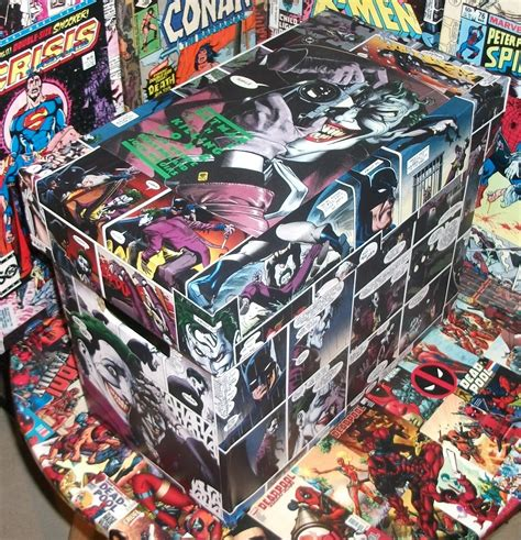 comic decoupage paper batman killing joke box comic decoupage copier