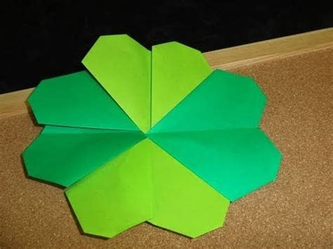 origami four leaf clover four leaf clover origami foldable ideas