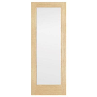 interior glass doors home depot steves sons 30 in x 80 in lite solid pine obscure glass interior door slab