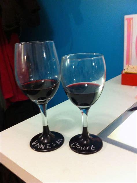diy chalk paint wine glasses diy chalkboard wine glasses creativity