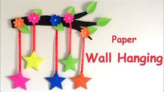 paper hanging crafts diy wall hanging from paper paper craft card board