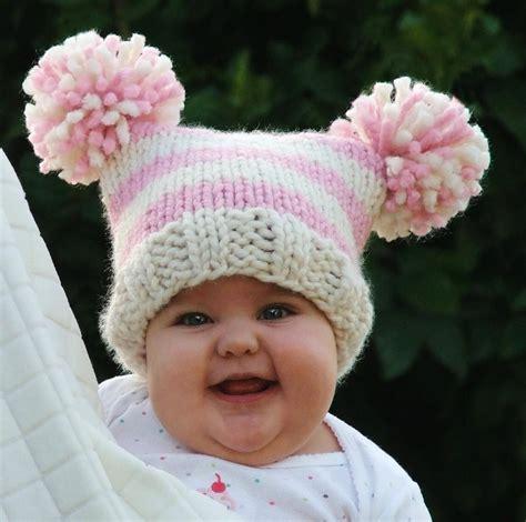 baby knit hat baby jester pom pom by creatiknit knitting pattern