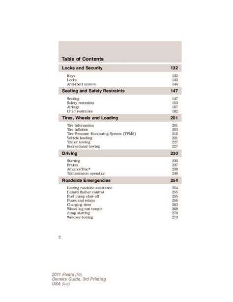 car service manuals pdf 2011 ford fiesta electronic throttle control 2011 ford fiesta owners manual