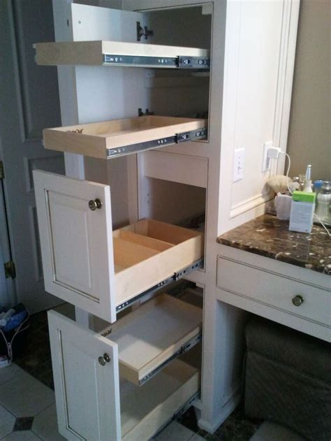 bathroom cabinet pull out shelves 25 best ideas about pull out shelves on