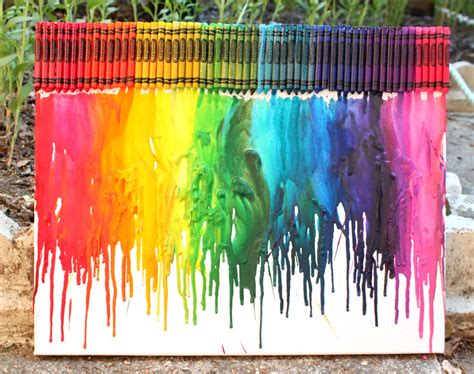 crayon crafts for how to make rainbow melted crayon