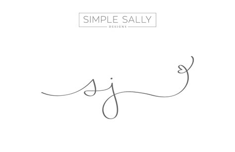 simple and fun logos for creative businesses sj
