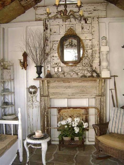 shabby fireplace shabby chic country cottage