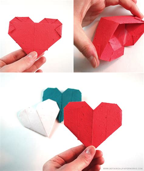 origami for valentines day craft origami seed paper s day hearts that
