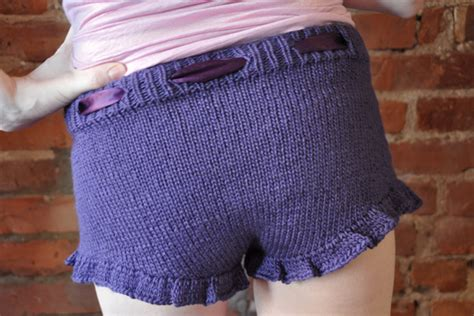 knitted shorts pattern purple knitted shorts with ruffle knitting is awesome