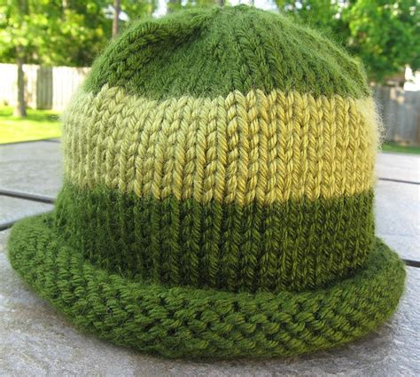 knit hat with brim pattern free rolled brim hat free pattern knitting