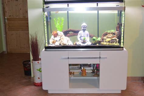 meuble laqu 233 blanc pour aquarium