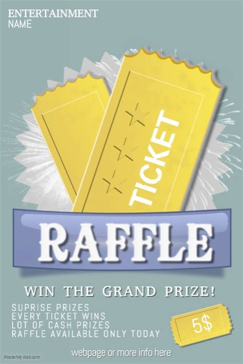 raffle flyer template raffle giveaway ticket poster flyer template postermywall
