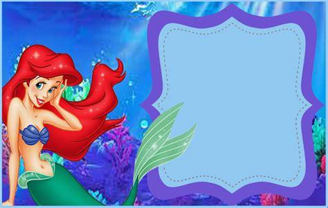 little mermaid free printable invitation templates