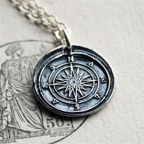 how to make wax seal jewelry compass wax seal necklace in silver wax seal