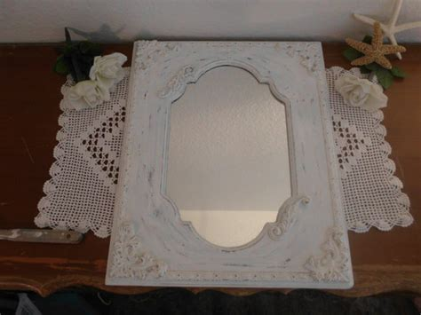 large white shabby chic mirror large white mirror ornate rustic shabby chic distressed up