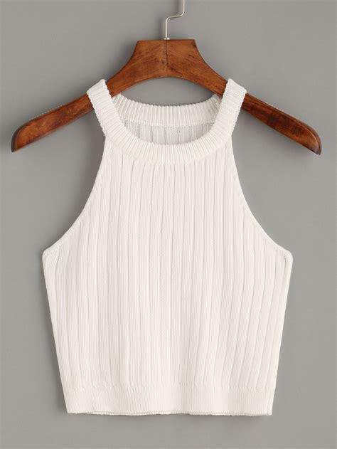 knitted tank top white knitted tank top makemechic