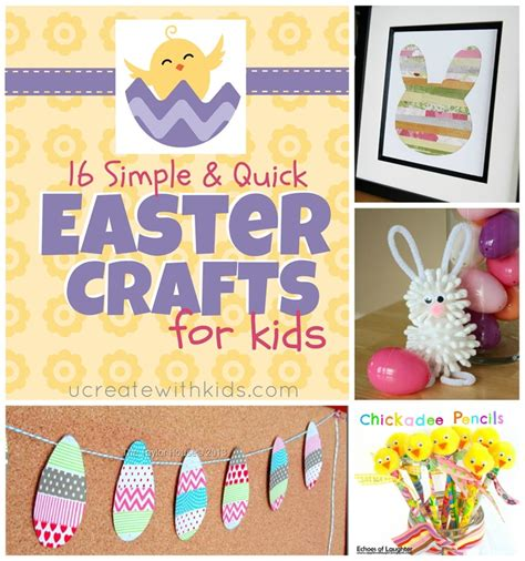 fast crafts for 16 simple easter crafts for u create