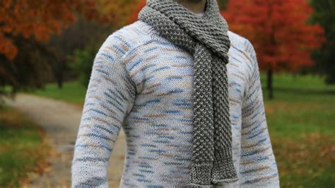mens knitted scarf patterns how to knit s scarf tutorial with detailed