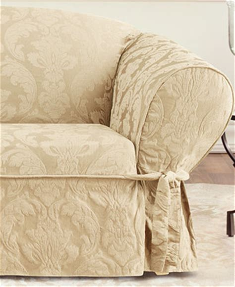 matelasse sofa slipcovers sure fit matelasse damask slipcover collection