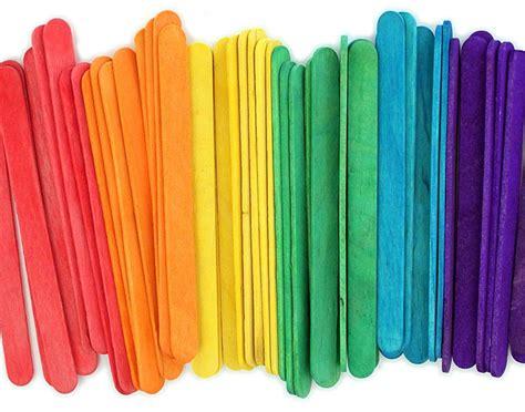 popsicle sticks orange craft sticks