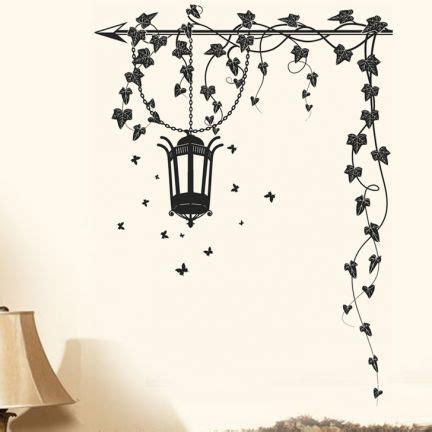 black wall stickers buy stickerskart hanging l and vines black wall sticker