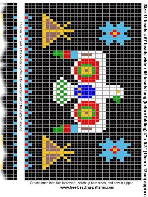 free american beading patterns free beading pattern change purse american