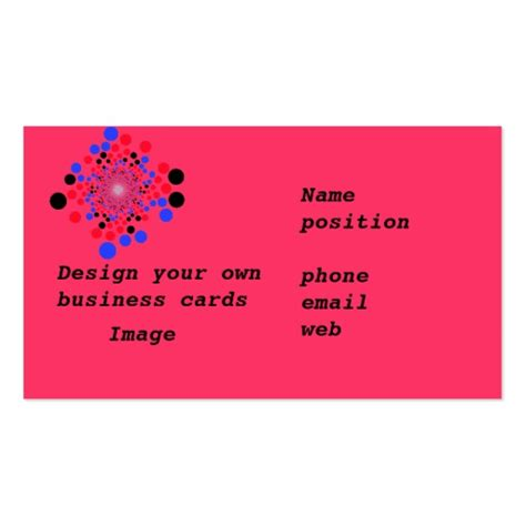 make you own card business cards design your own zazzle