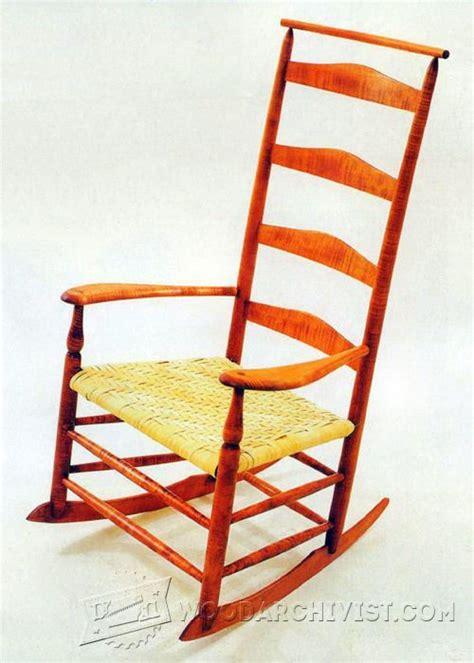 rocking chair woodworking plans shaker rocking chair plans woodarchivist