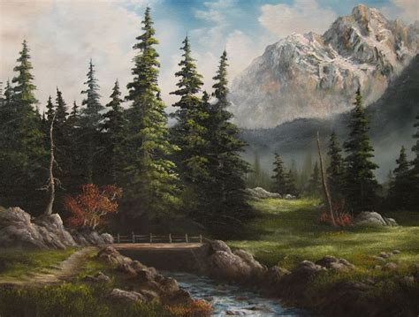 bob ross painting with knife only kevin hill gallery paints in bob ross style with big