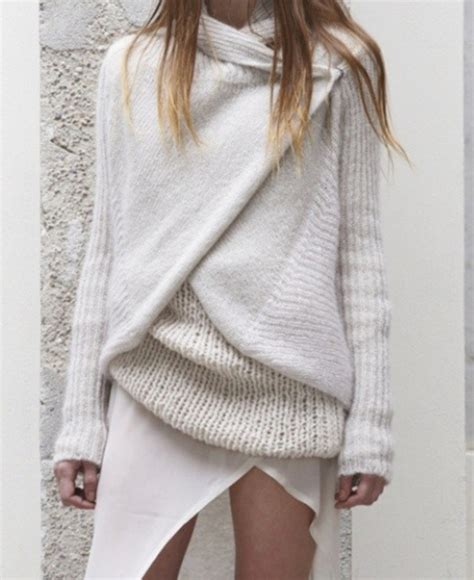 white knit white knit sweater on