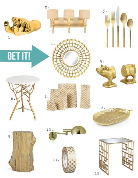 gold decor home decor trend a touch of gorgeous gold 171 stencil stories