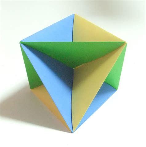 modular origami octahedron modular polyhedra from waterbomb base units abstract