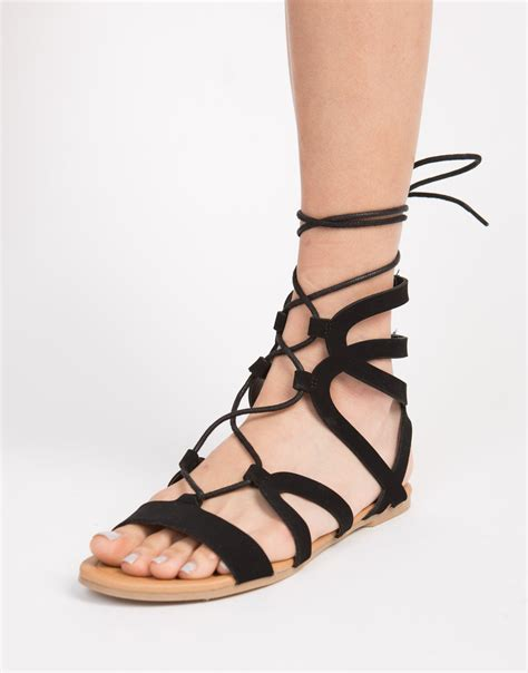sandals with strappy lace up sandals black lace up flat sandals 2020ave