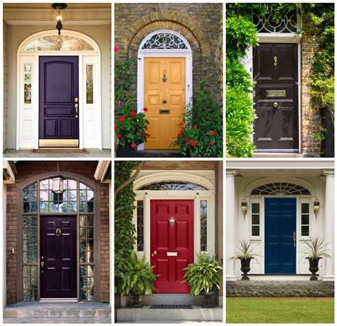 colored doors front door and curb appeal decor colored front doors