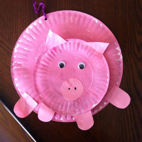 pig craft for paper plate pig preschool crafts paper